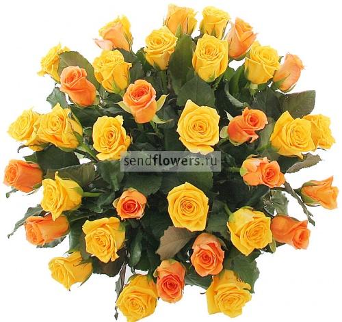 """6790 RUR.  Букет из роз  """"Ласковое солнце """""""